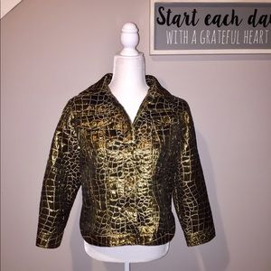 Ruby Rd Gold Metallic Jacket
